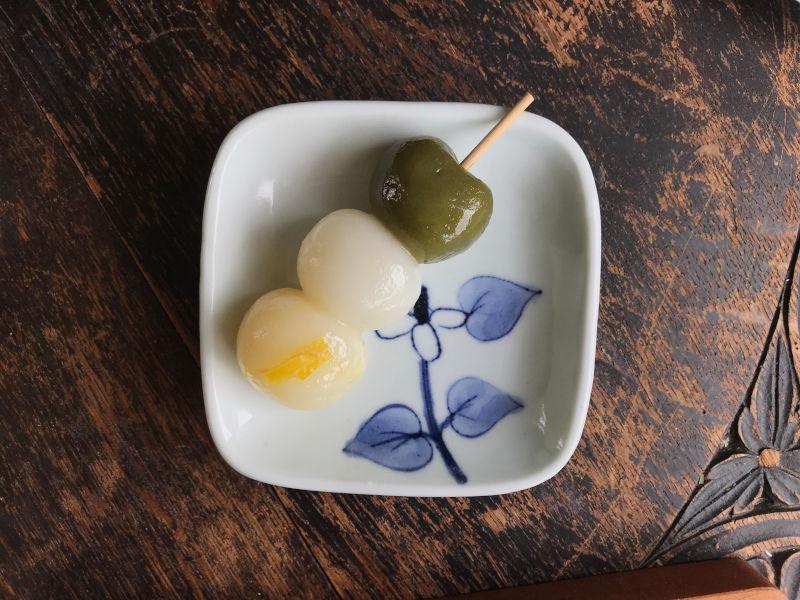 画像: 季節のおだんご、この日は愛南ゴールドで