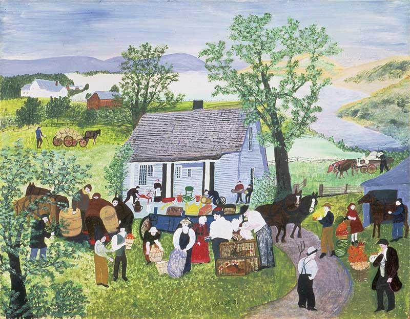 画像: アンナ・メアリー・ロバートソン・〝グランマ〟・モーゼス《農場の引越し》 1951年 個人蔵(ギャラリー・セント・エティエンヌ、ニューヨーク寄託)ⓒ2021, Grandma Moses Properties Co., NY