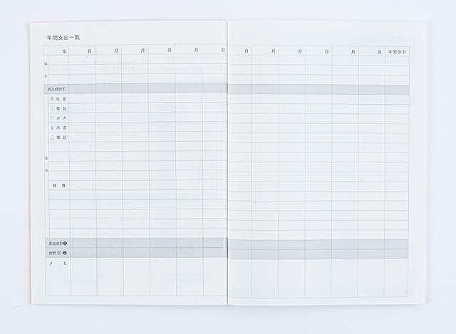 画像3: 60年以上の歴史をもつ、手帳の老舗がつくった家計簿 「ざっくり家計簿」/伊藤手帳