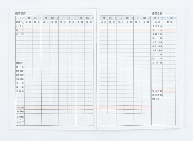 画像4: 6カ月用の家計簿。110円とは思えない充実の内容 B6家計簿 6ヶ月用 80ページ/Seria