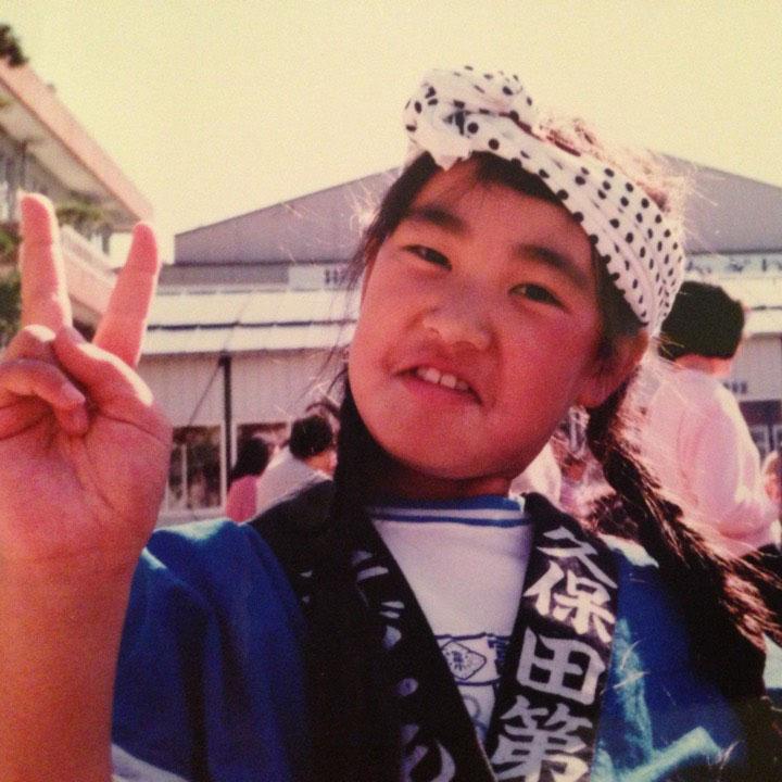 画像: 小学生時代の白鳥さん。すくすくと育ちました