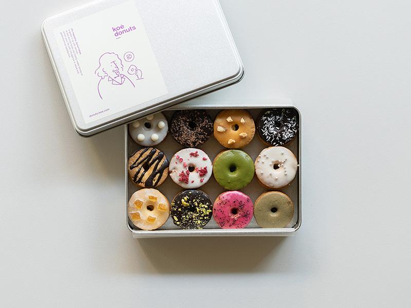 画像1: koé donuts クッキー缶 1,620円