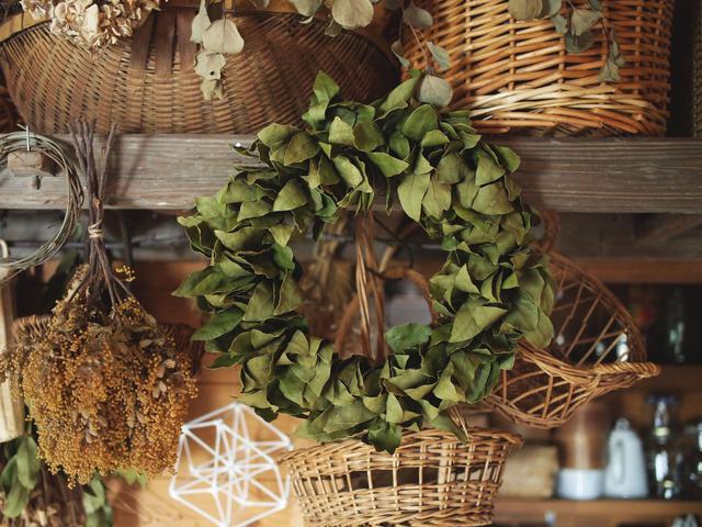 画像: 乾燥してくると葉が丸まって立体になるにつれて形が整ってきます