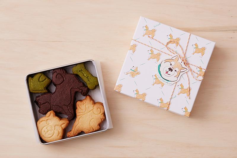画像: 柴犬のクッキー缶 2,200円(税込)