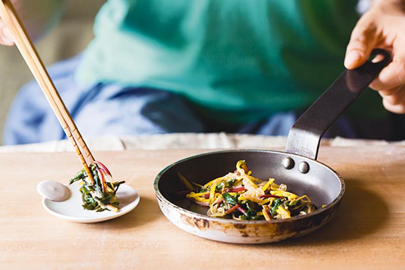 画像: スベリヒユの味噌炒めのつくり方