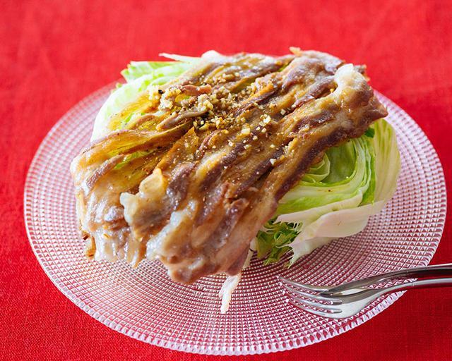 画像: にんにくソースのカリカリポークレタスサラダのつくり方