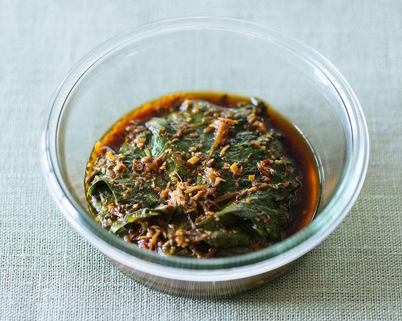画像: 大葉のピリ辛醤油漬けのつくり方