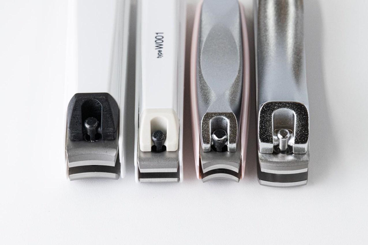 画像: 左からカーブ刃、直線刃、アーチ刃、凸刃。巻きの強さでこの中から選ぶ