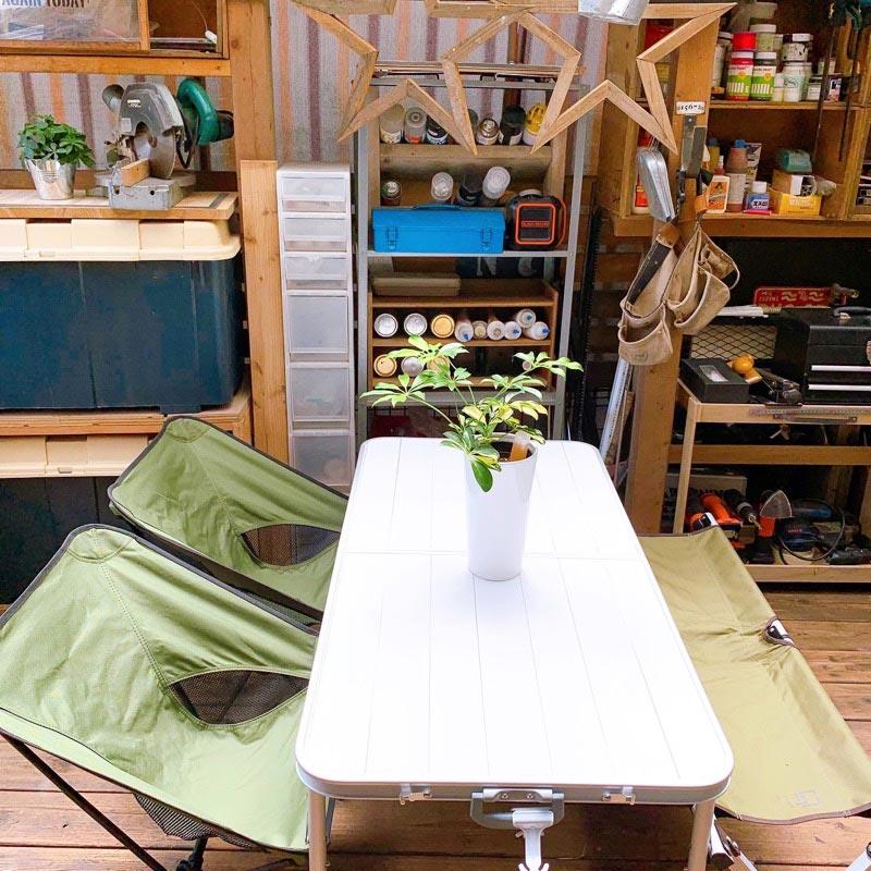 画像: DIY作業スペースだった頃のウッドデッキ