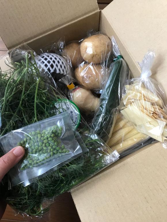 画像: 到着した食材にわくわく、真空パックでおだしも!