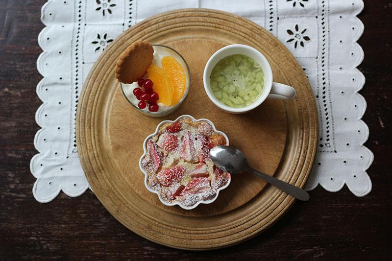 画像: いちごのフランでひと皿のレシピ