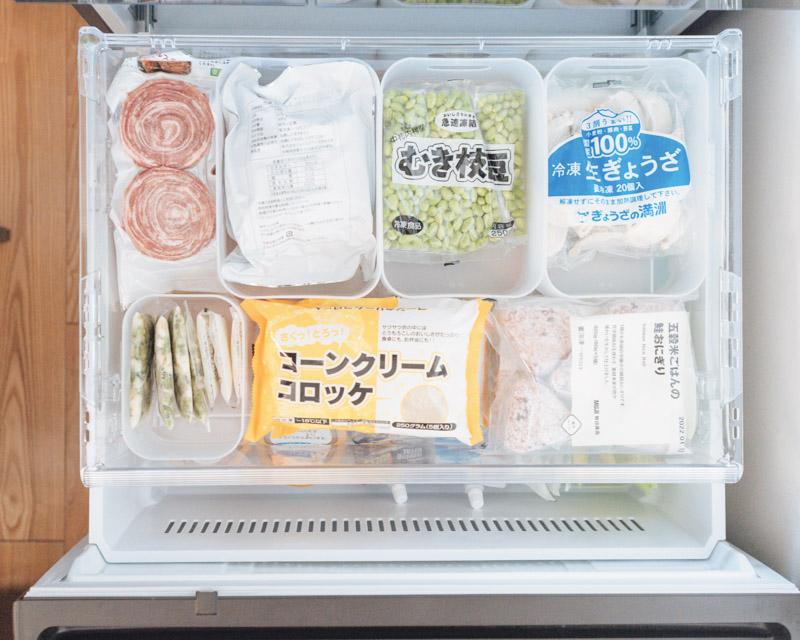 画像1: 冷凍室の収納