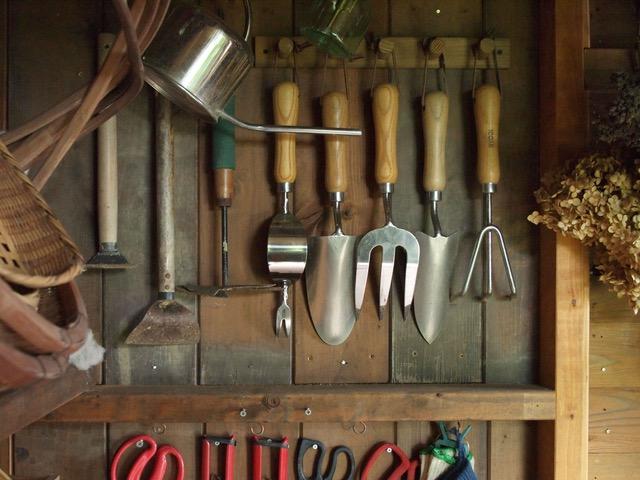 画像: どこに何の道具があるか、一目でわかるように配置しています