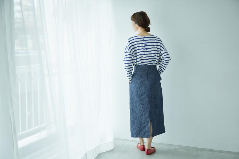 画像: 「ロングタイトスカート」季節のコーディネート