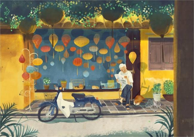 画像: コメント「モダンなバイクがますます増える中で、 カブはまだベトナムのお多くのお年寄りの長年の友であります。 」