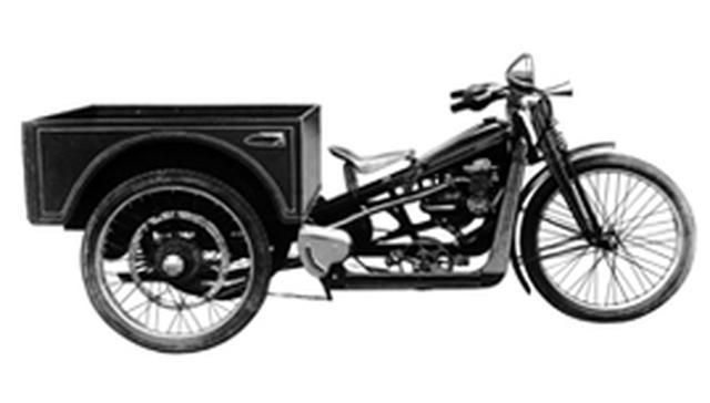 画像: 1948年のホンダB型。3輪トラックの形態のこのモデルの荷台にも、「サモトラケのニケ」仕様のウイングマークが使われました。 www.honda.co.jp