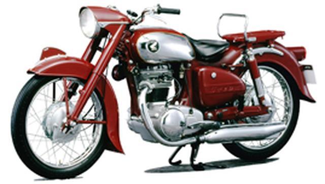画像: 1955年登場の、ホンダ初のOHC単気筒ドリームSA(250cc)/SB(350cc)。ホンダ初の10馬力を超えた当時の高性能車でした。 www.honda.co.jp