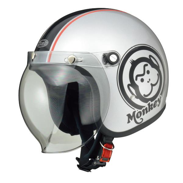 画像: Hondaモンキーヘルメット シルバー×ブラック/バック ¥16,000 +消費税 www.honda.co.jp
