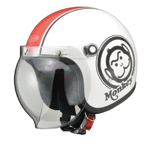 画像: Hondaモンキーヘルメット ホワイト×レッド ¥16,000 +消費税 www.honda.co.jp