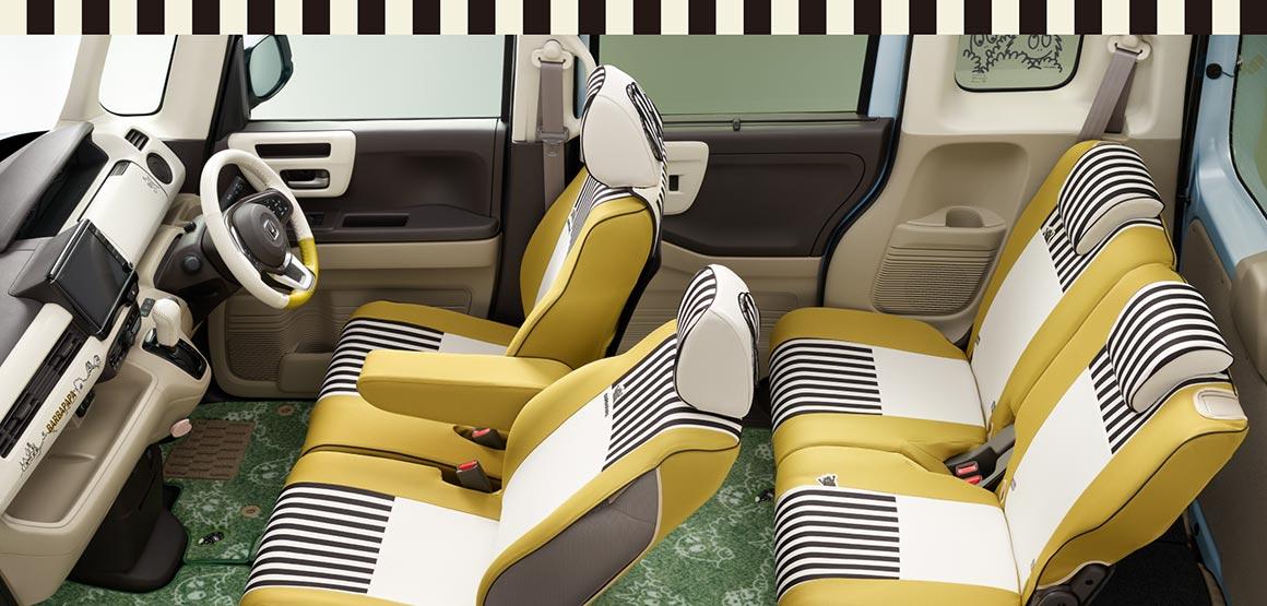 画像: ショウ会場で初めて実車が公開される「《BARBAPAPA》COLLECTION」。ホンダアクセスが提案する女性ドライバー向けコラボスタイルとしては第5弾となります。