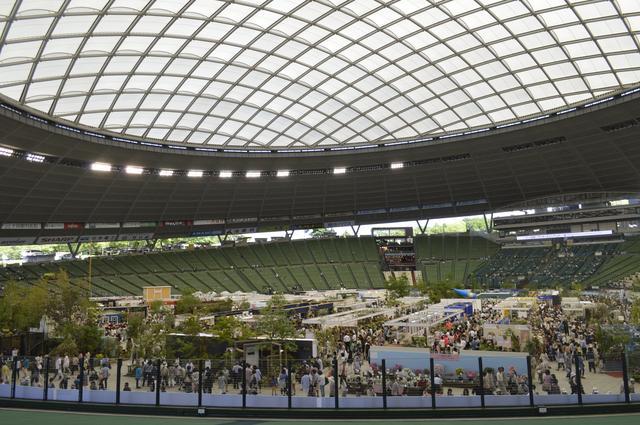 画像: ドーム球場のアリーナに色とりどりのブースが並んで、不思議にくつろげる空間を作り出しています。(写真は2015年イベントのもの)