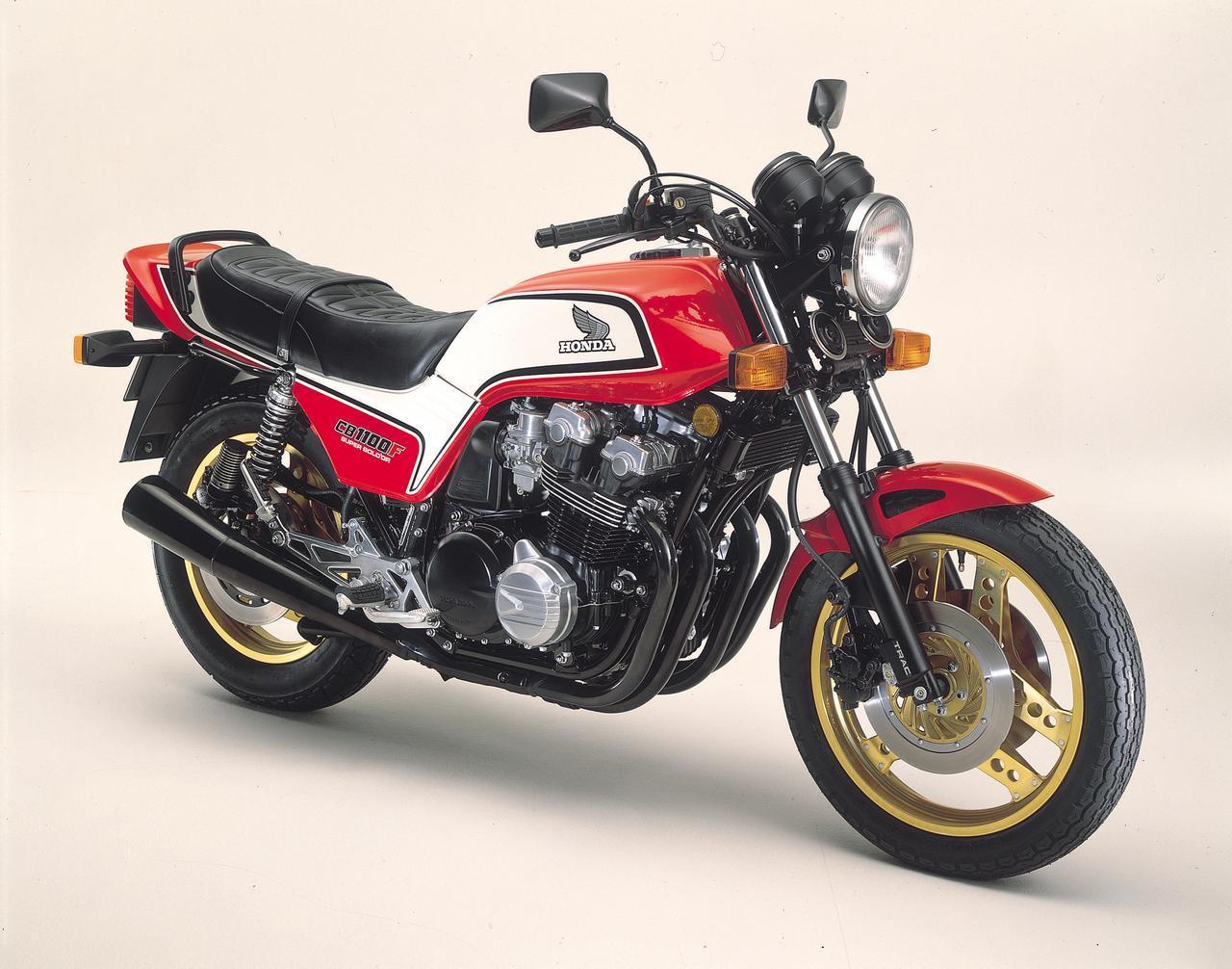 画像: CB1100F(1983) CB1100Rのエンジンを一般ユース向けにモディファイし、角型スイングアームなどを装備したCB900Fベースの車体に組み合わせたCB-Fシリーズの最終型。翌年からホンダの主力スポーツがV4エンジンに移行したため、わずか1年の生産となった。