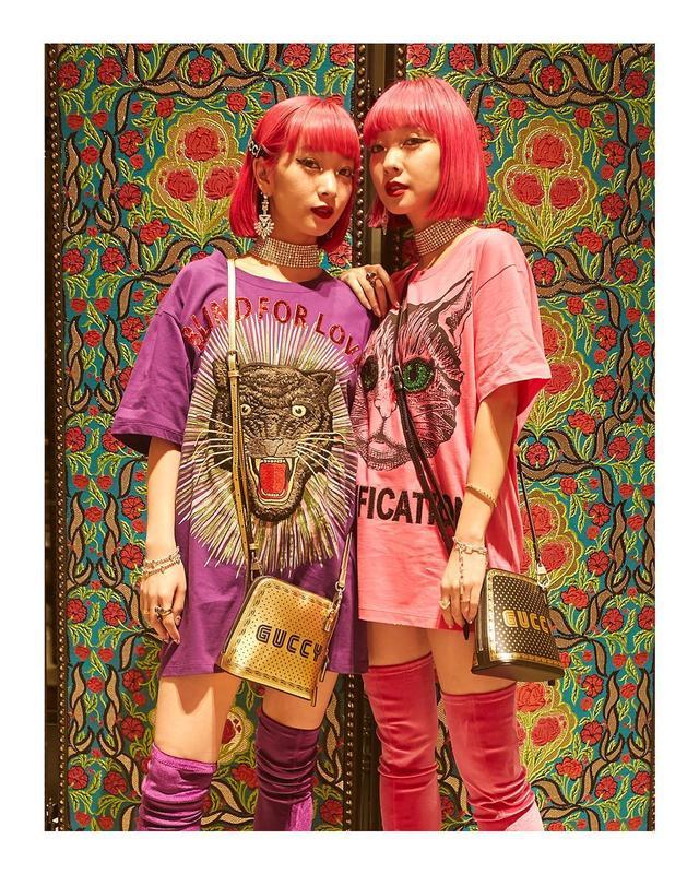 画像1: GucciさんはInstagramを利用しています:「Celebrating the opening of the new Shinjuku flagship in Tokyo, @amixxamiaya and @ayaxxamiaya attended wearing T-shirts with animal…」 www.instagram.com