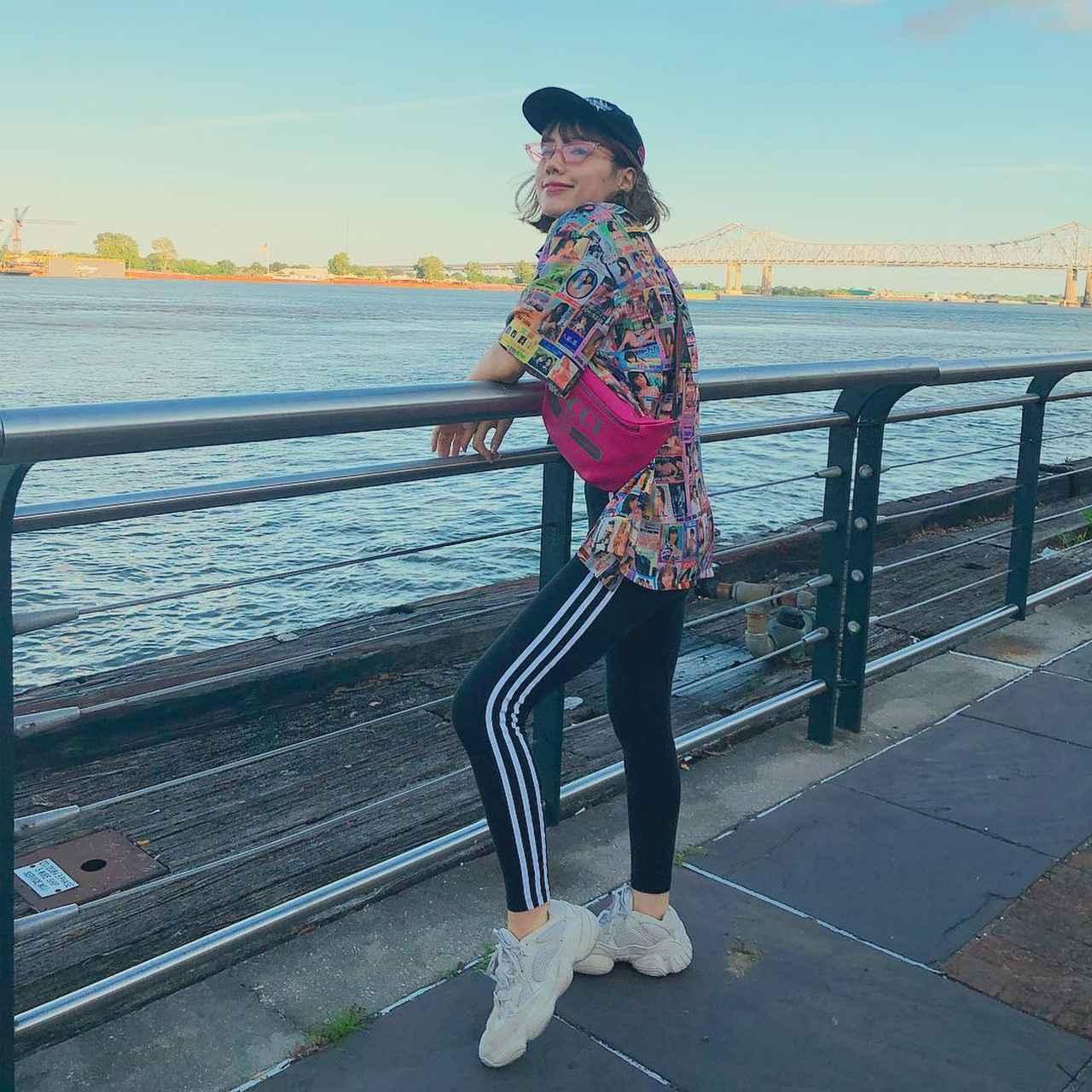 画像1: Riisa Naka  仲里依紗さんはInstagramを利用しています:「お気に入りのピンクビラ柄のシャツは @labrat_tokyo 」 www.instagram.com