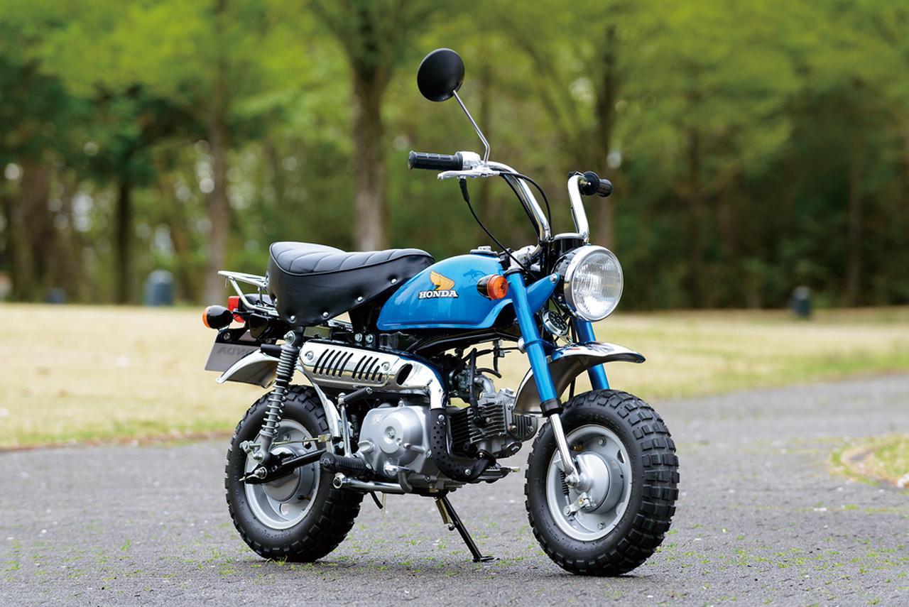画像: 1978 Z50J-I ●エンジン型式:空冷4ストロークOHC単気筒●最高出力:2.6ps/7,000rpm●最大トルク:0.3㎏-m/5,000rpm●車両重量:63㎏●燃料タンク:5.0L●サスペンション(前・後):テレスコピック・スイングアーム●タイヤサイズ(前後ともに):3.50-8●価格:10万円