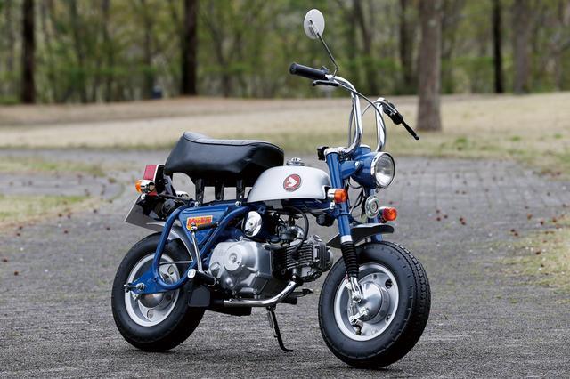 画像: 1969 Z50A ●エンジン型式:空冷4ストロークOHC単気筒●最高出力:2.6ps/7,000rpm●最大トルク:0.3㎏-m/5,000rpm●車両重量:55㎏●燃料タンク:2.5L●サスペンション(前・後):テレスコピック・リジッド●タイヤサイズ(前後ともに):3.50-8●価格:6万3,000円