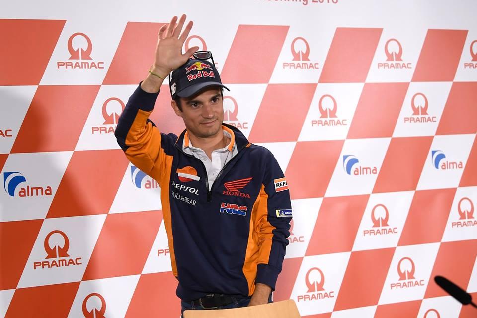 画像: ドイツGPのレースウィーク中の会見で、引退を発表したD.ペドロサ(ホンダ)。 www.facebook.com