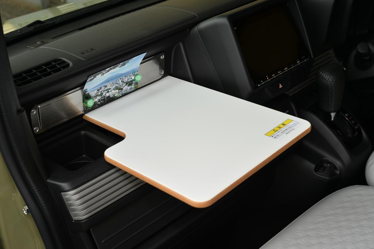 画像: 写真: L・Honda SENSING (FF/CVT)ディーラーオプション装着車 走行中はこのモードおよび簡易テーブル(ディーラーオプション)を使用できません。