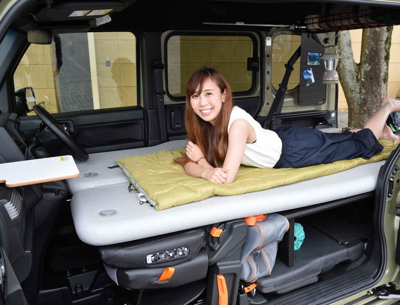 画像: 1人だったら寝返りも打てるくらい横幅が広いです(笑) 写真:+STYLE FUN・Honda SENSING ガーデングリーン・メタリック/アクセサリー装着車