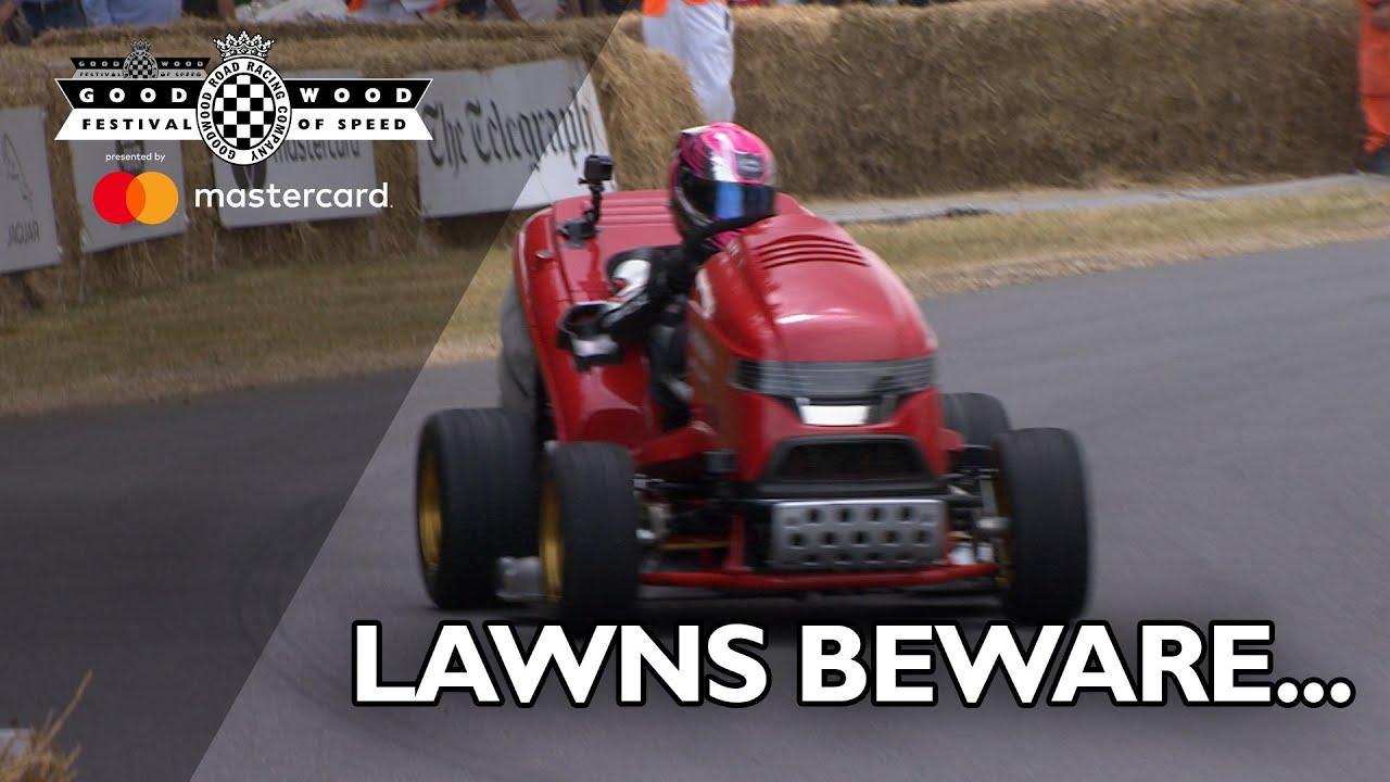 画像: World's fastest lawn mower cuts through FOS hill youtu.be