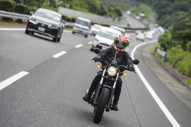 画像2: レブル250の高速道路…!