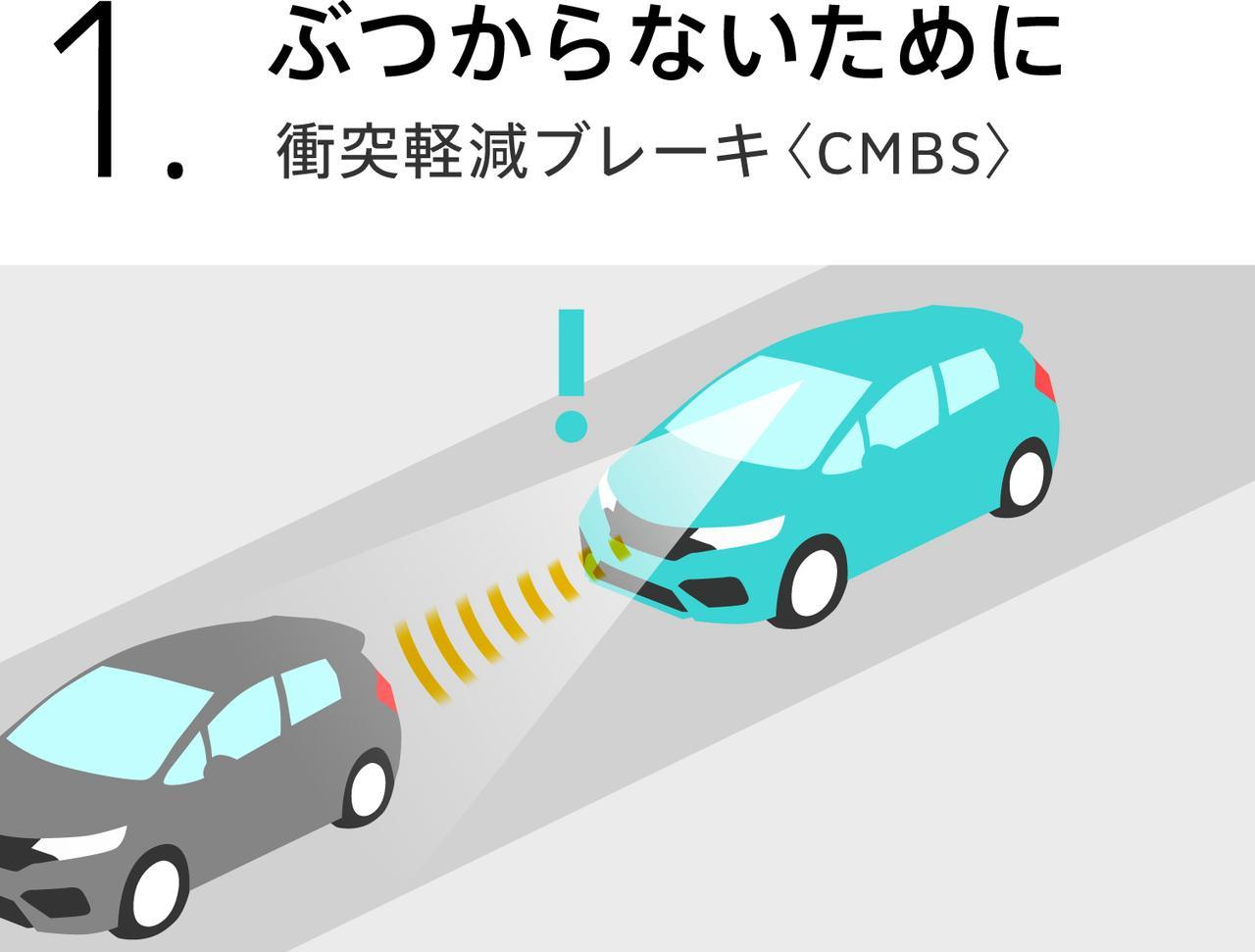 画像: ホンダセンシング 衝突軽減ブレーキのイメージ。