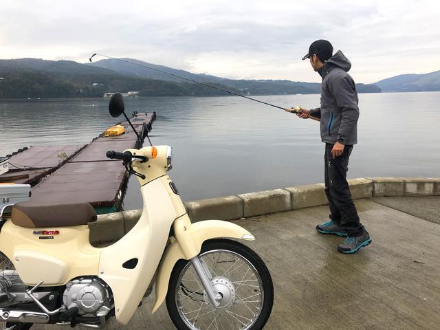画像1: 10月中旬の山中湖。バス釣りは厳しいか?