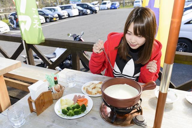 画像2: チーズフォンデュ¥1,030(ご注文は2名様~) + レアチーズケーキ¥420