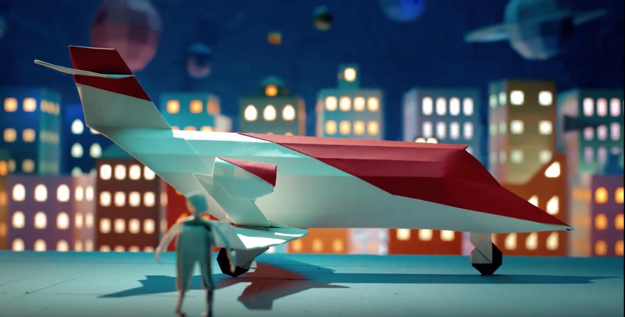 画像: HONDA公式YouTubeより/飛行機とそれに圧巻される人 www.youtube.com