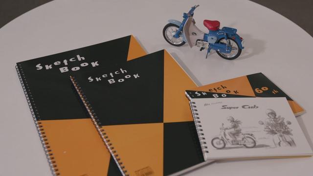 画像: SuperCub 60周年企画 マルマン株式会社「図案スケッチブック」インタビュー www.youtube.com