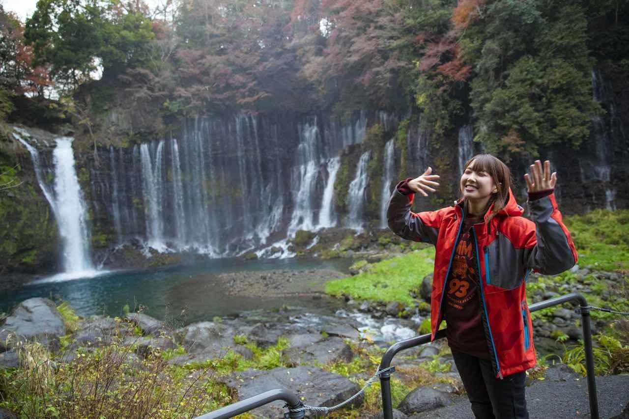画像4: 白糸の滝へ到着しました!