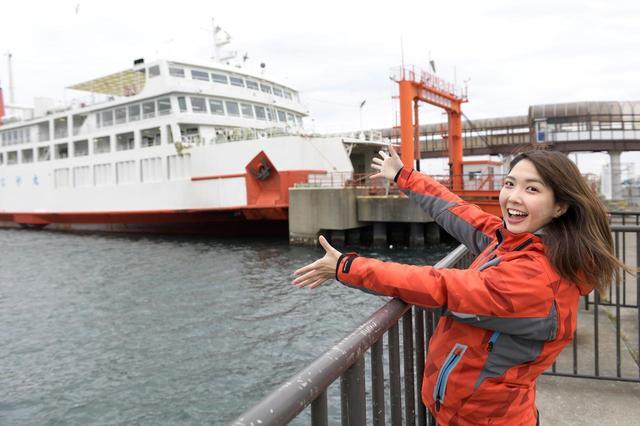 画像1: 久里浜港に到着!