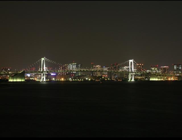 画像: 豊洲埠頭から見たレインボーブリッジ