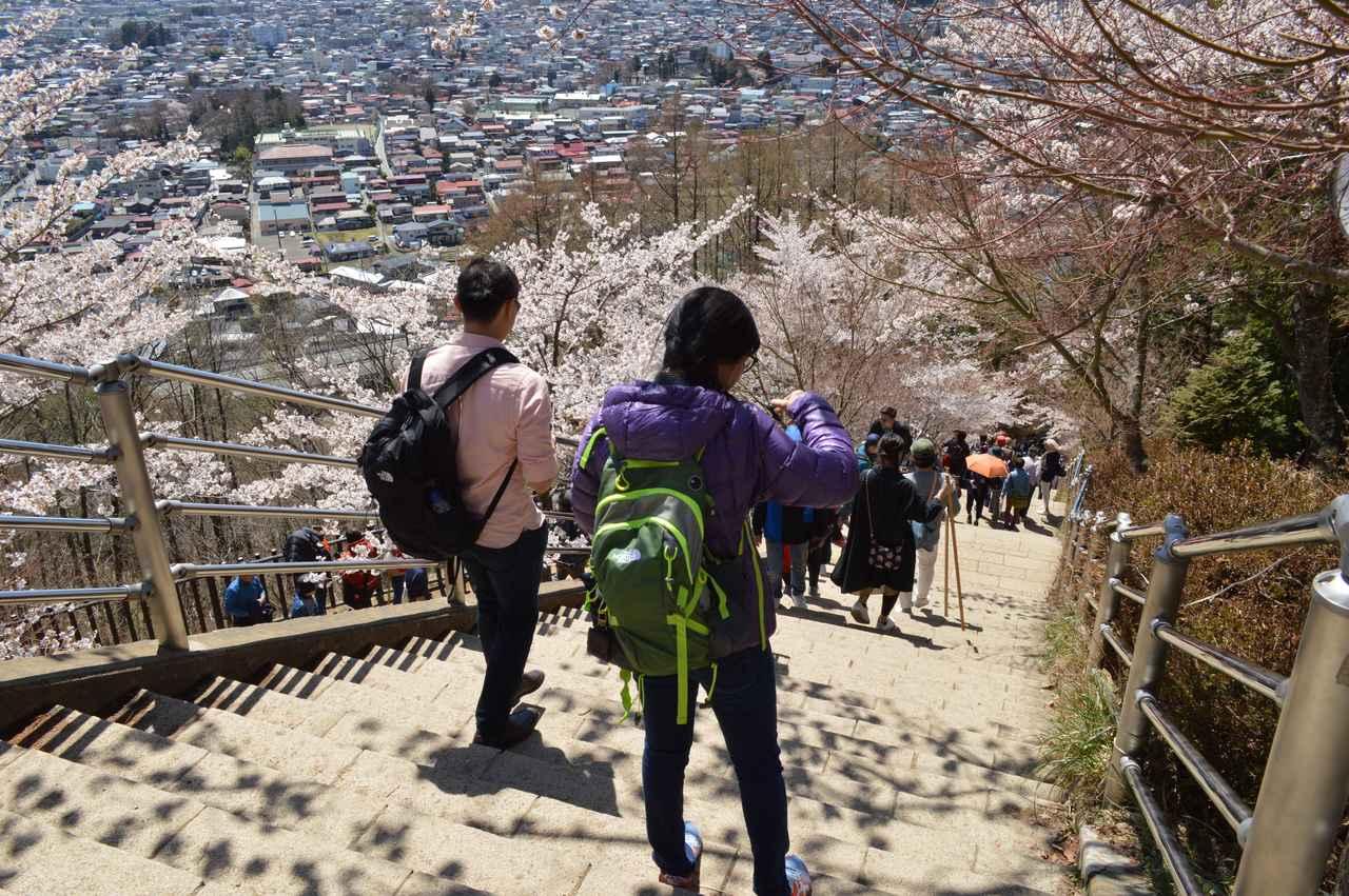 画像: 登る時よりも降りる時の方が手に汗を握ってしまいそう。