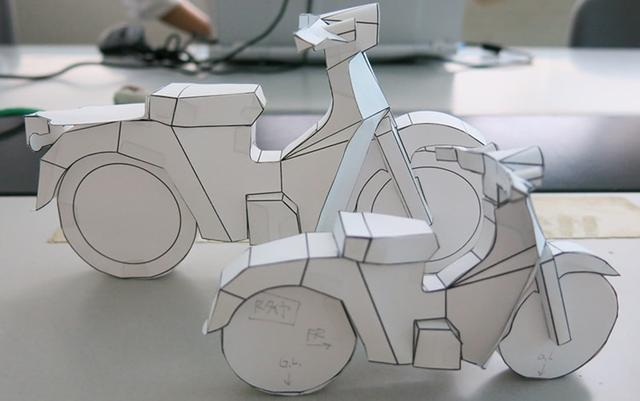 画像: []( https://www.honda.co.jp/supercub-anniv/papercubproject/ #paper-craft) www.honda.co.jp