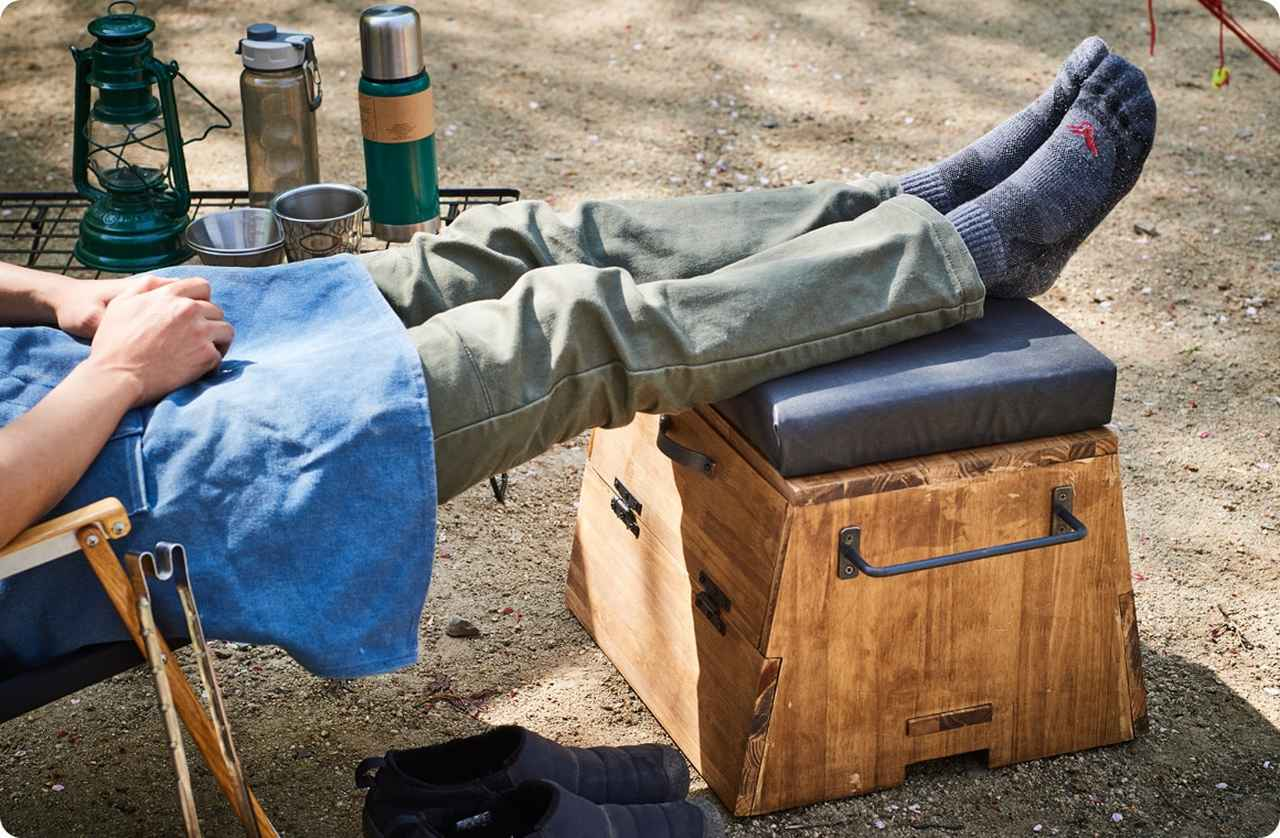 画像: キャンプギアをDIY!ボックスタイプの多機能オットマン | Hondaキャンプ