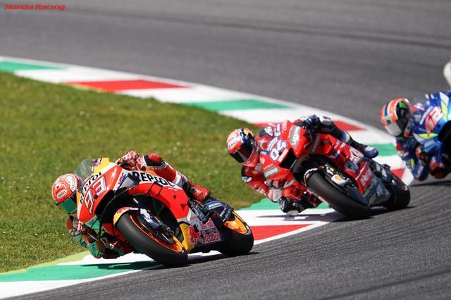 """画像: 2019年イタリアGPでは、""""守り""""のレースで2位を獲得したM.マルケス(ホンダ)。 www.honda.co.jp"""