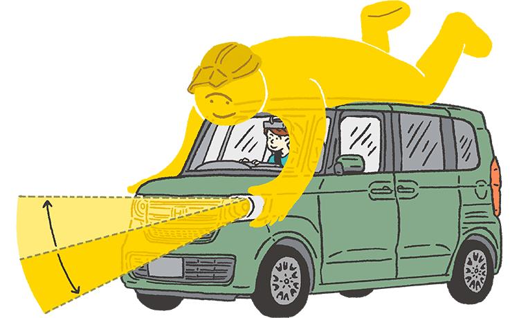 画像: 対向車や前走車を検知し、ハイ/ロービームを自動で切り替え。 www.honda.co.jp
