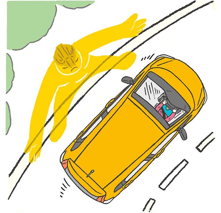 画像: 車線を検知し、はみ出さないように支援。 https://www.honda.co.jp/hondasensing/