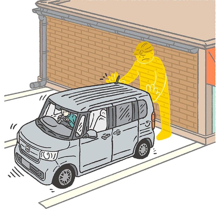画像: 不注意による急な後退を防止し注意を喚起。 www.honda.co.jp